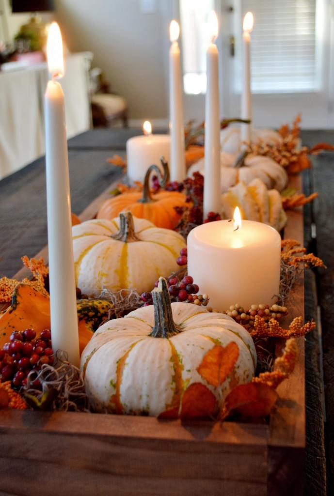 fall decor fall pumpkin candle box