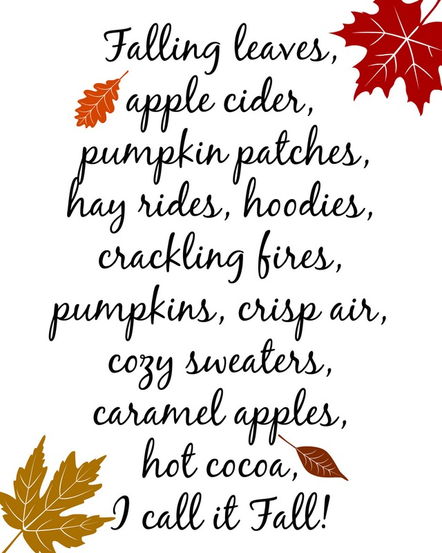fall printable fall leaves
