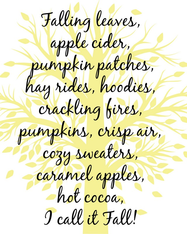 fall tree printable yellowish