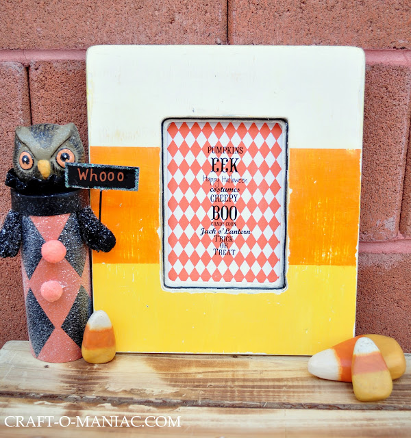 rustic candy corn frame