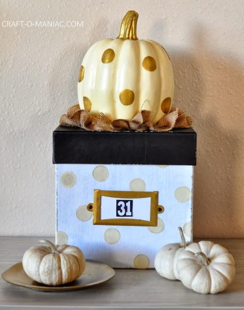 rustic halloween box