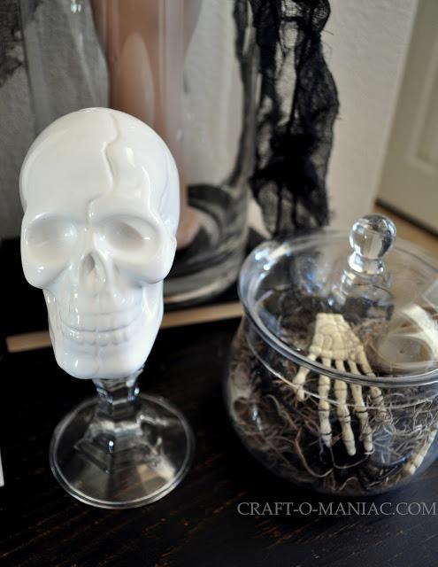 rustic halloween skull
