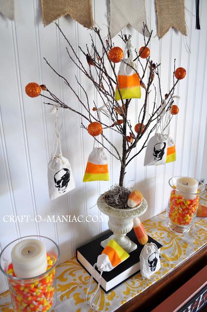 rustic halloween tree