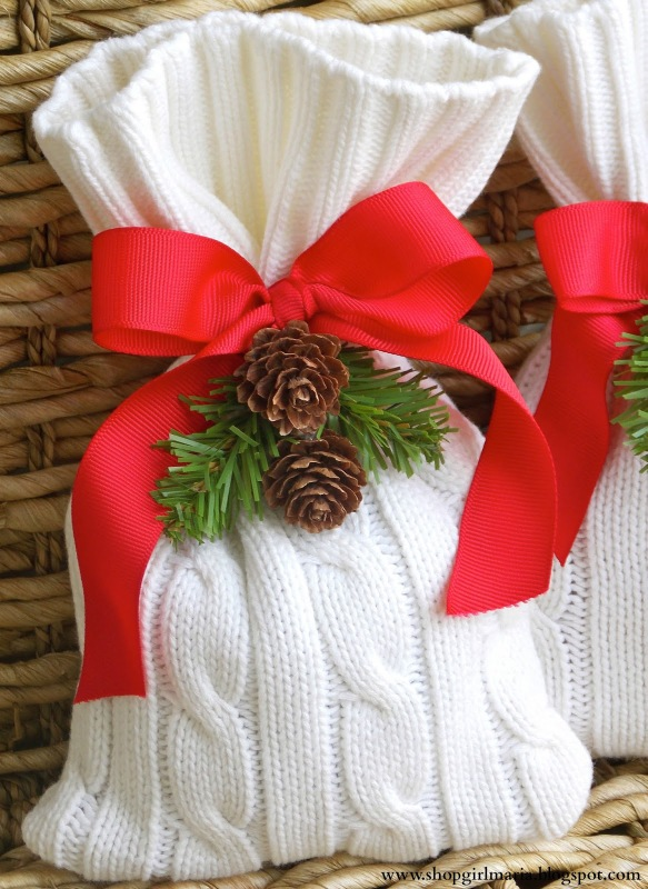 christmas gift idea sweater bag gift