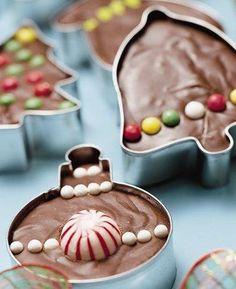 christmas gift ornament fudge