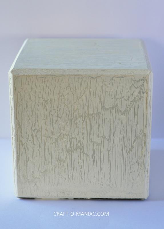 diy crackle finished wood block4