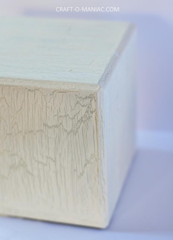 diy crackle finished wood block5