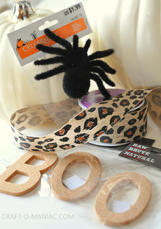 diy embellished faux pumpkins cheetah and boo