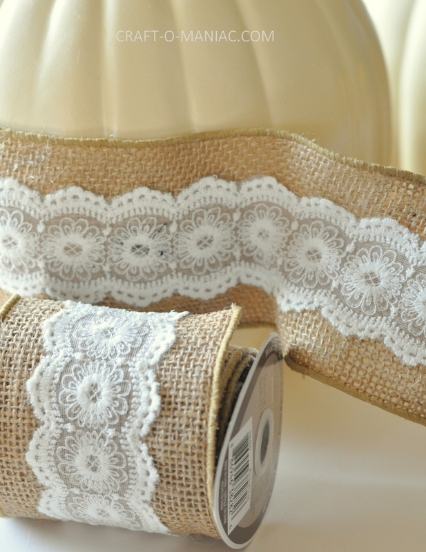 diy embellished faux pumpkins lace burlap