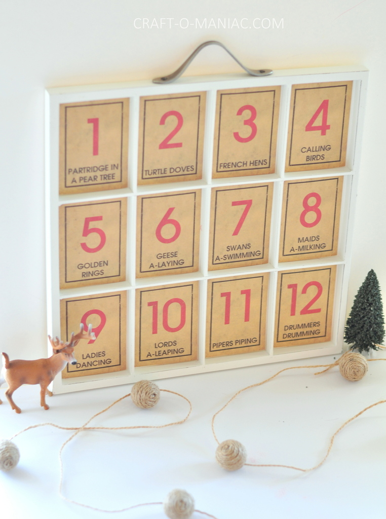 12 days of christmas song tray2
