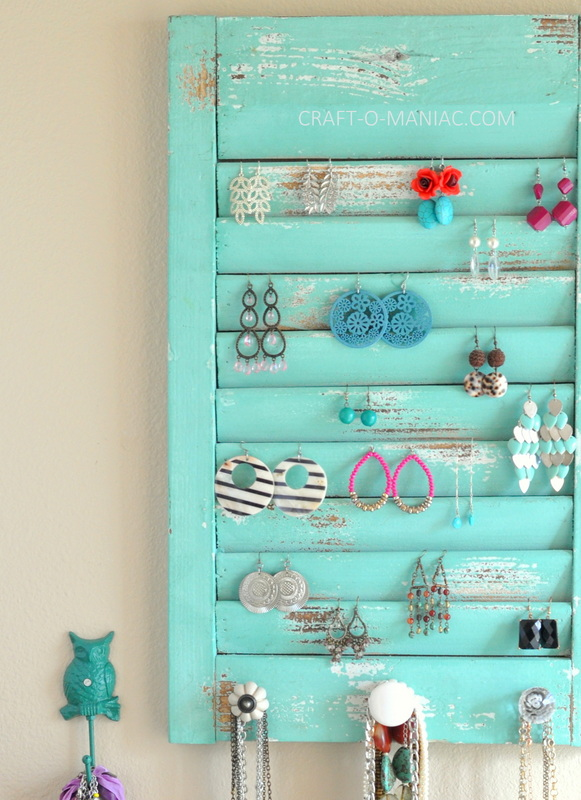 DIY jewelry organization wall2