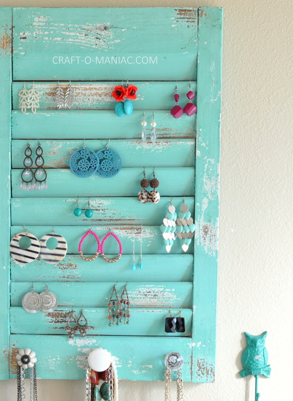 DIY jewelry organization wall5