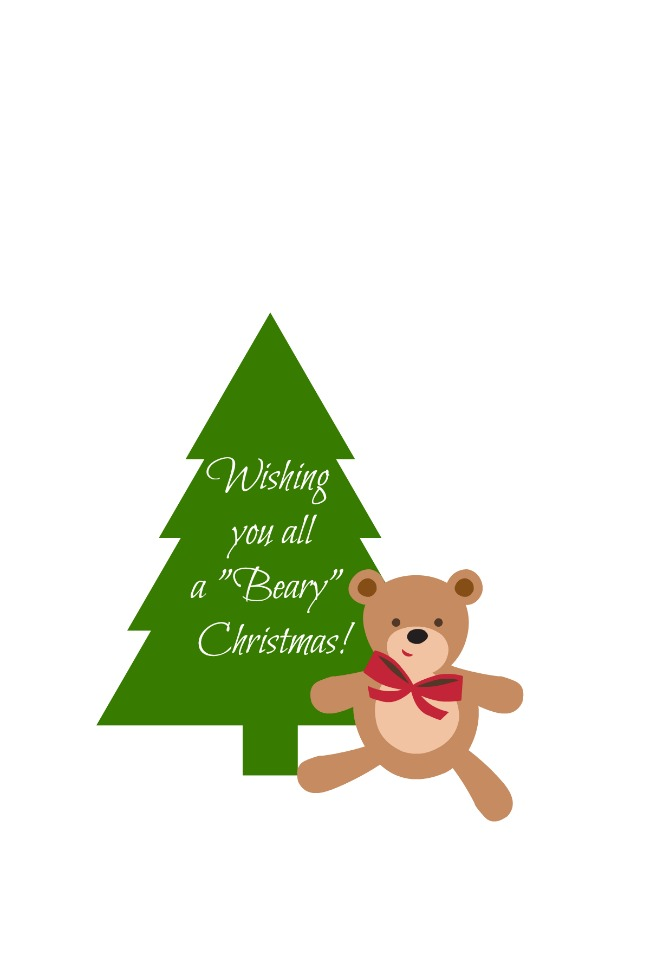 beary christmas tag
