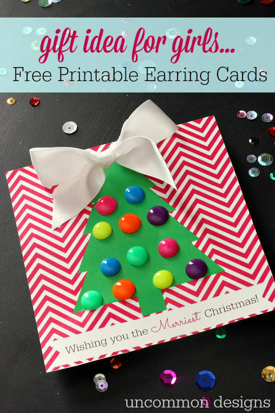 cc Free-Printable-Earring-Cards-for-Christmas-