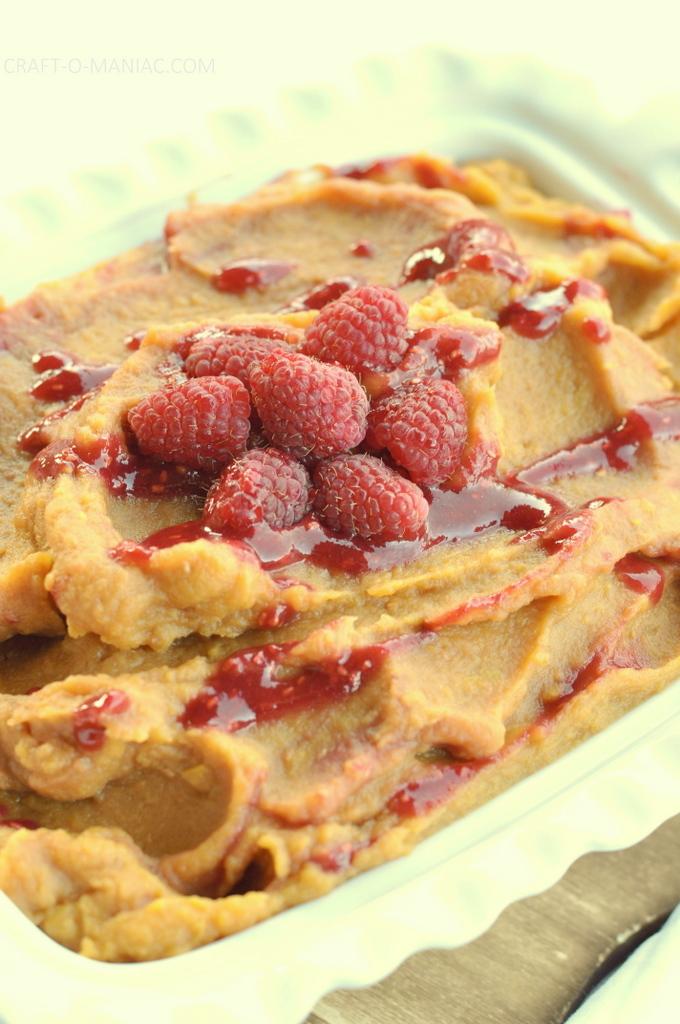 creamy sweet potatos with raspberry swirl4