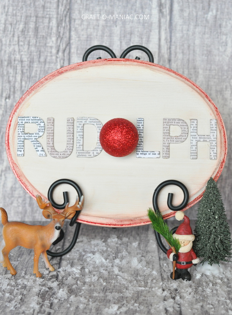diy rudolph word sign10