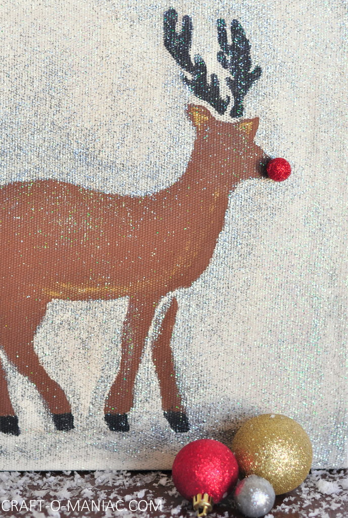 diy sentciled rudolph canvas1
