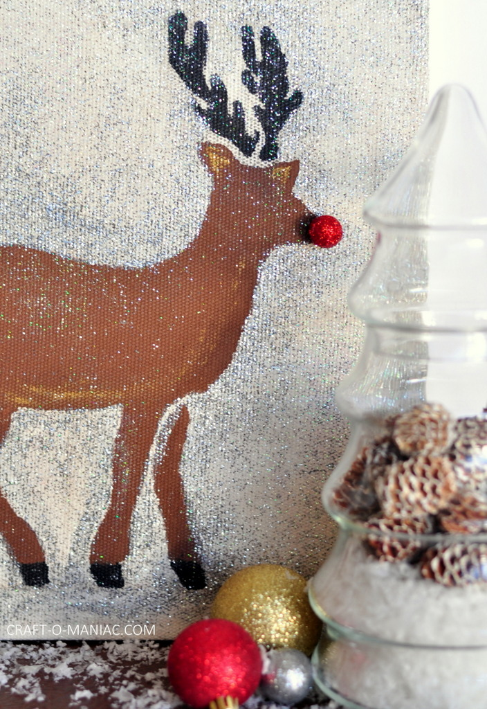 diy stenciled rudolph canvas7