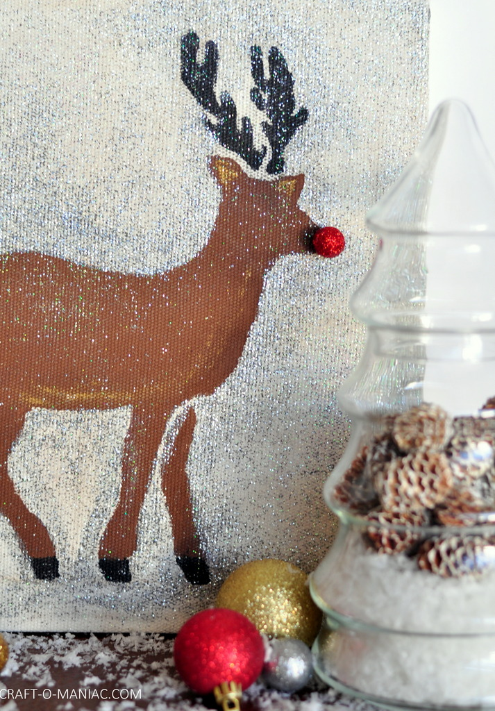 diy stenciled rudolph canvas8