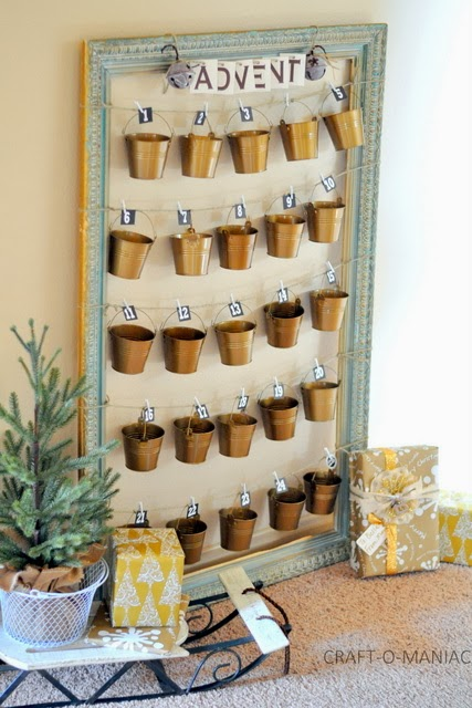 rustic advent calender favorite one