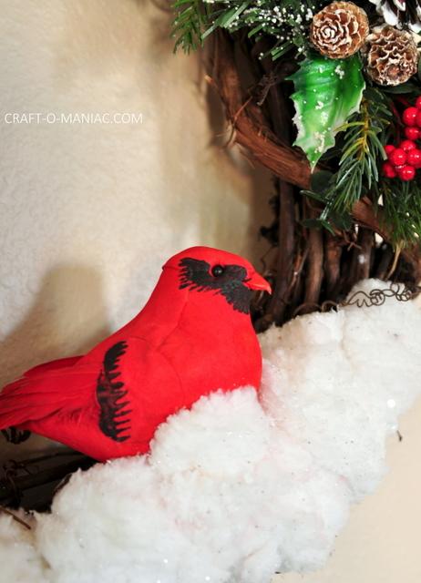 DIY winter woodland christmas wreath10