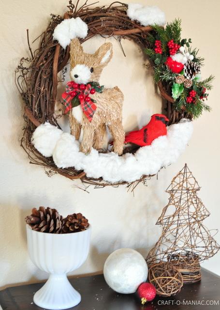 DIY winter woodland christmas wreath13