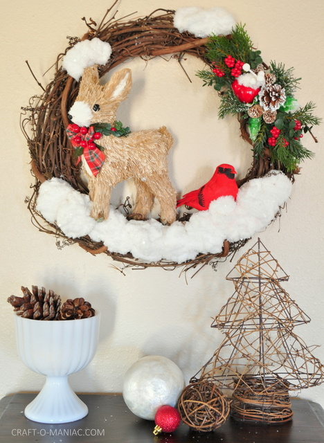 DIY winter woodland christmas wreath14 fav