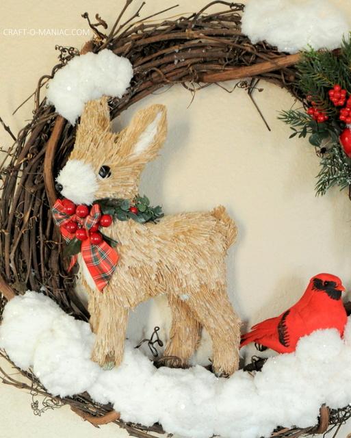 DIY winter woodland christmas wreath15