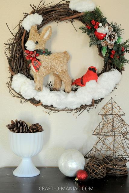 DIY winter woodland christmas wreath2