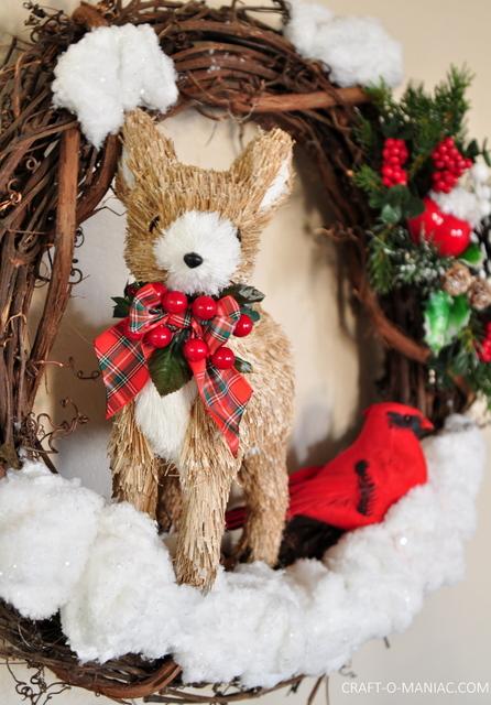 DIY winter woodland christmas wreath6