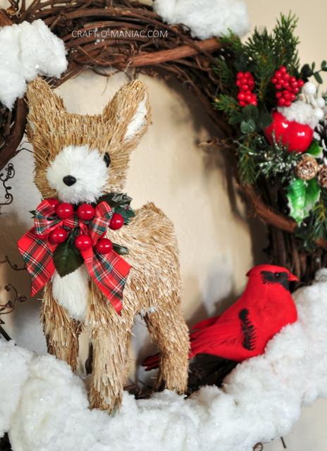 DIY winter woodland christmas wreath9