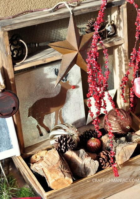 rustic christmas porch5