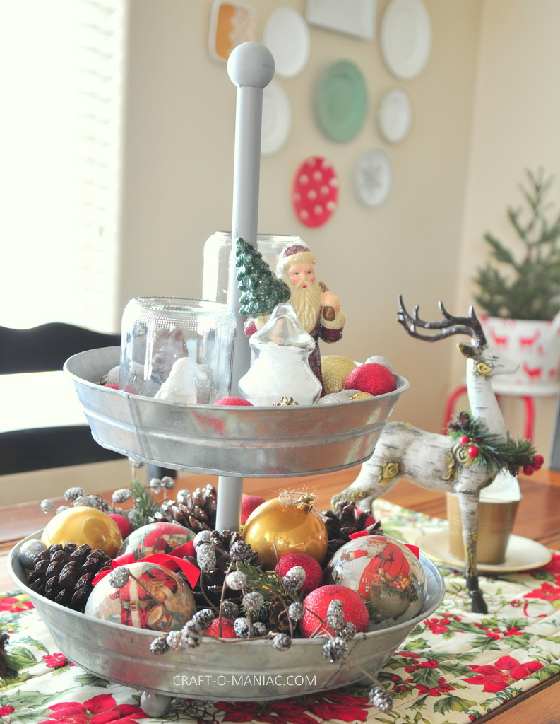 vintage christmas centerpiece1
