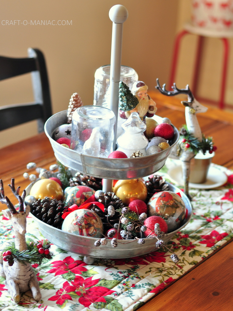 vintage christmas table centerpiece