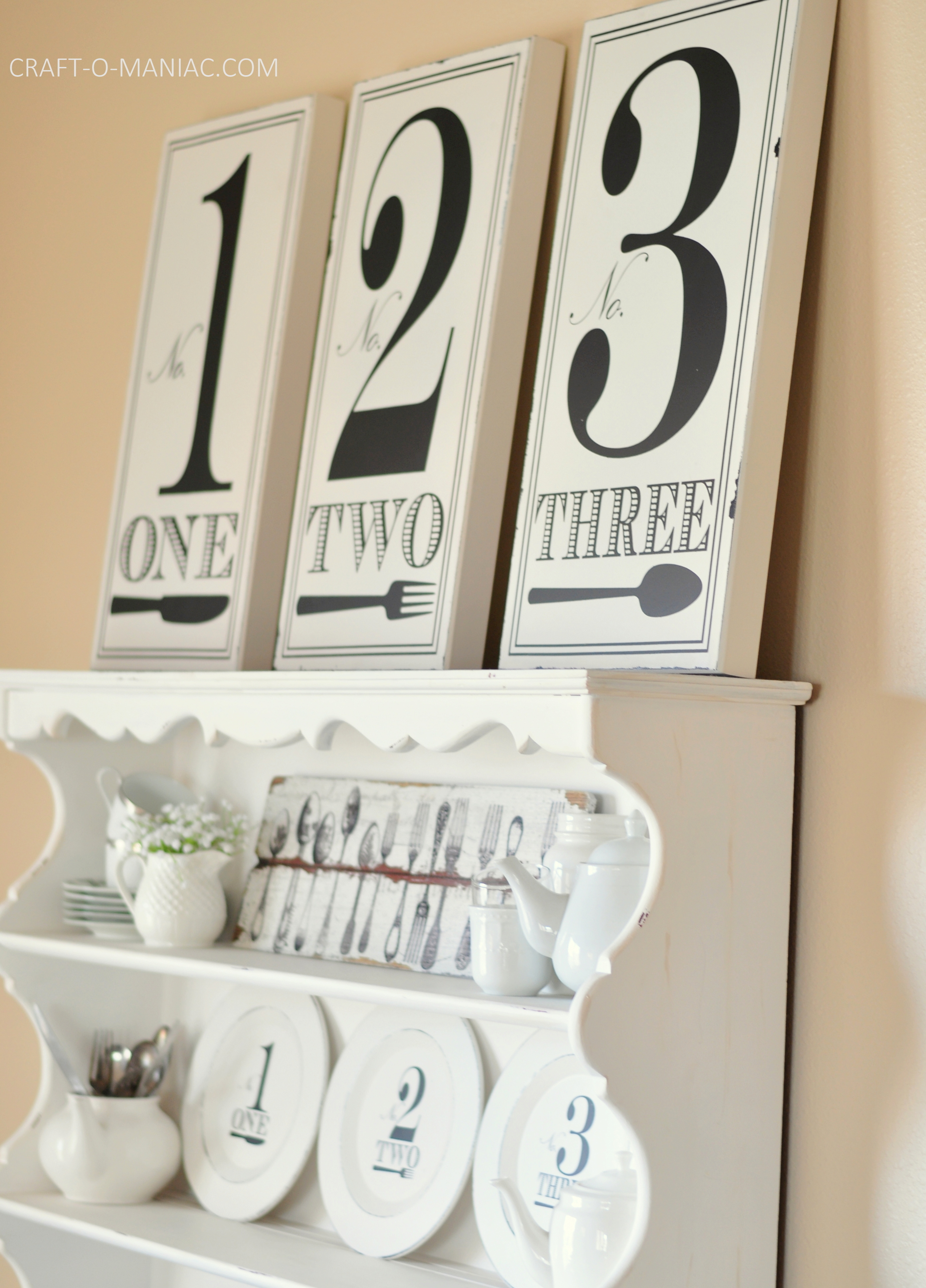 Black And White Hutch Large Numbers