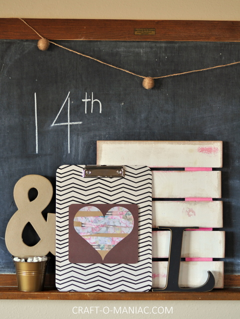 diy paper heart clipboard craft2