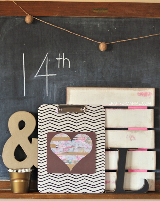 diy paper heart clipboard craft4