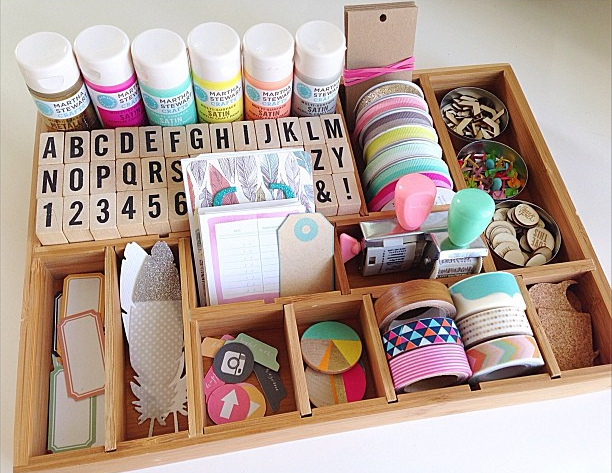 craft supplies in box