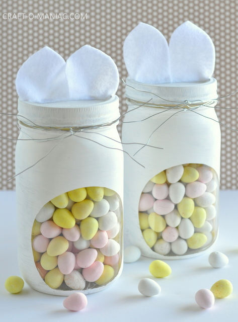 diy bunny embellished candy jars12