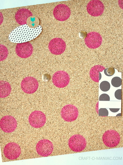 diy stenciled stamped cork board1
