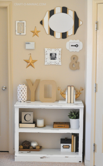 diy white chalkpainted bookshelf full