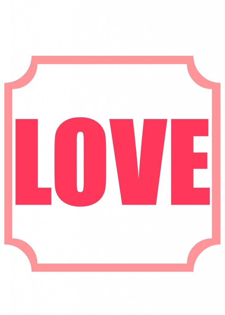 love printable 4