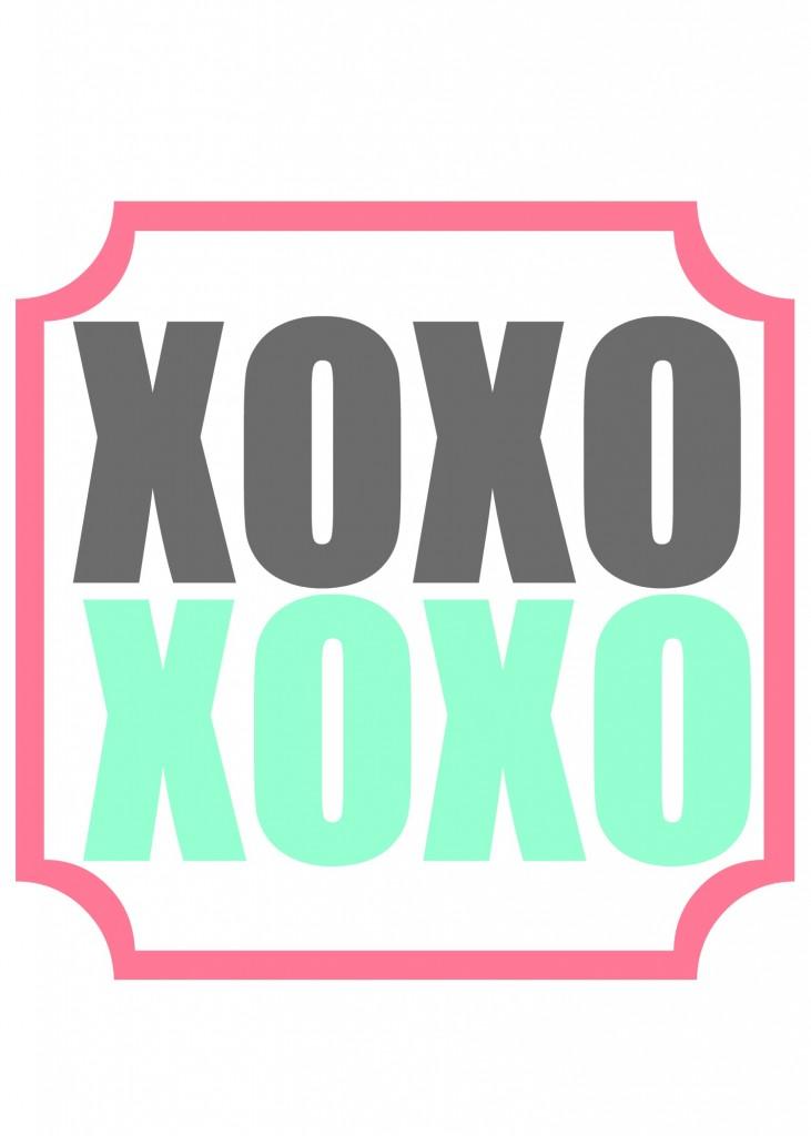 xoxo printable 3