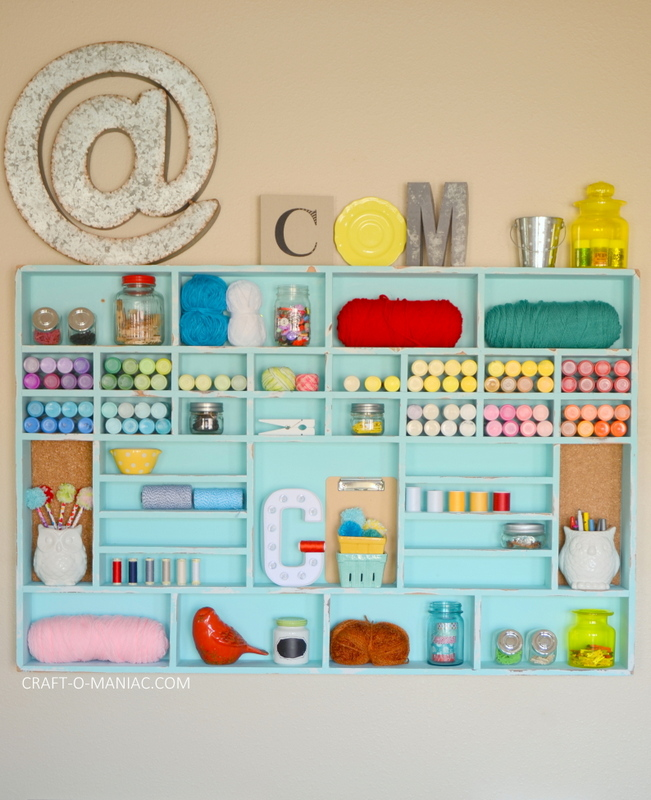 DIY Craft Cubby Wall15