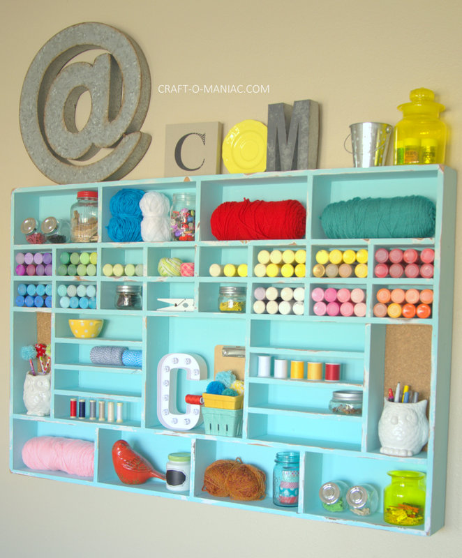 DIY Craft Cubby Wall17