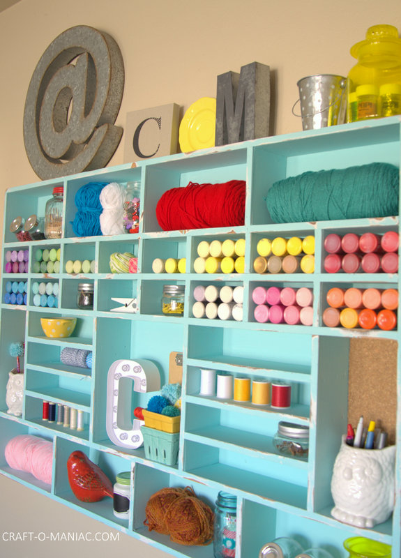 DIY Craft Cubby Wall23