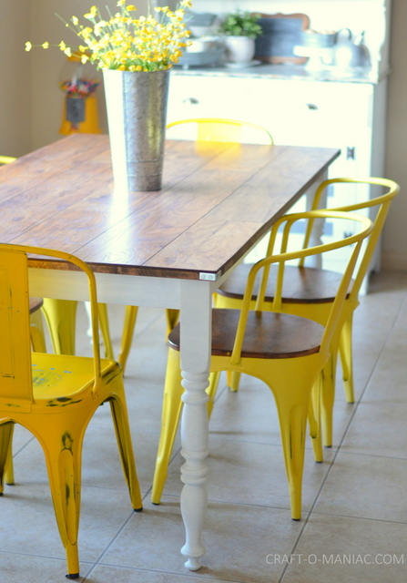 diy rustic kitchen table 2