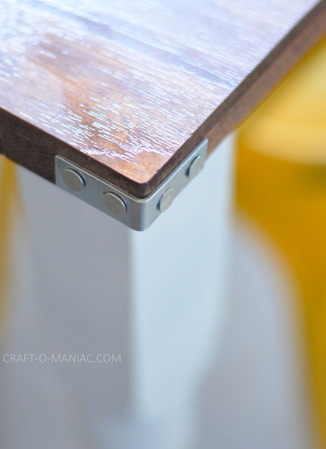 diy rustic kitchen table galvanized corners
