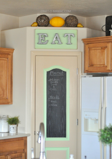 DIY Rustic Eat Sign And Pantry Door Craft O Maniac