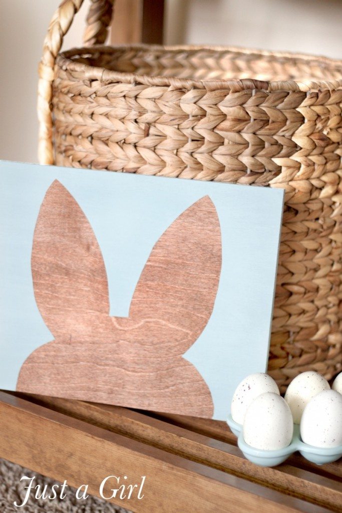 easter bunny crafts stenciled bunny ears